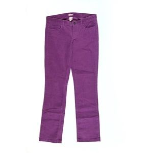 NWT JCrew Matchstick corduroy pants stretch purple